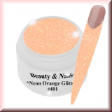 UV Farbgel *Neon Orange Glitter*-5ml - #401