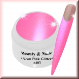 UV Farbgel *Neon Pink Glitter*-5ml - #403