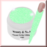 UV Farbgel *Neon Grün Glitter* - 5ml - #405