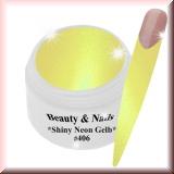 UV Farbgel *Shiny Neon Gelb*- 5ml #406