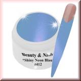 UV Farbgel *Shiny Neon Blau* #412 - 5ml