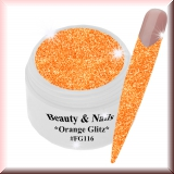 UV Farbgel *Orange Crush Glitz*- 5ml -#GG116