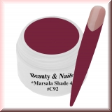 UV Farbgel *Shade Marsala 4* - 5ml - #C92