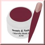 UV Farbgel *Shade Marsala 5* - 5ml - #C93
