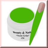 UV Farbgel *Neon Grün* - 5ml - #34