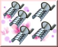 Teflon Schablonen für die Nagelverlängerung