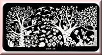 Stamping Schablone *Eichhörnchen,Hase,Eule,Baum,Blatt,Pilz -#Der-26*