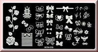 Stamping Schablone *Schleifen, Masche, Rose, Ranke -#BCN-016*