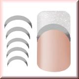 Metallic Sticker für Frenchspitzen *Low Curve* Silber