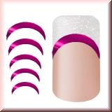Metallic Sticker für Frenchspitzen *Low Curve* Pink