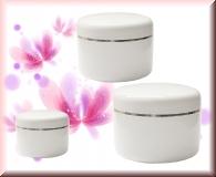 1 x Dose Weiß mit Silberring -  50ml