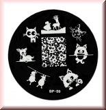 Stamping Schablone *Katze, Bambi, Schafe, Hirsch -#BP59