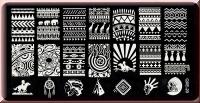 Stamping Schablone *Traumfänger, Indianer, Elefant, Giraffe -#QXE-20