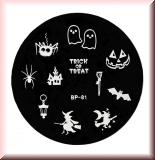 Stamping Schablone *Geist,Spinne, Hexe, Fledermaus,Besen -#BP81