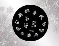 Stamping/Weihnachten *Nikolaus,Glocke,Stern,Fäustlinge #W220