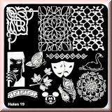 Stamping Schablone *Schwan, Masken, Pfauenfeder, Mickey -#Helen19