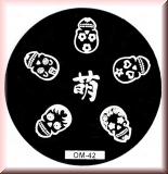 Stamping Schablone *Sugar Skull -#OM42