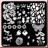 Stamping Schablone *FLip Flop, Vögel, Schildkröte, Bikini, Libelle -#Helen11