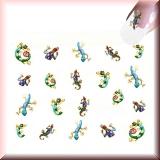 Sticker - Bunte Eidechsen, Salamander -#B2304