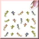 Sticker - Bunte Eidechsen, Salamander -#B2307