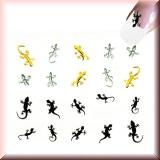 Sticker - Bunte Eidechsen, Salamander -#B2305
