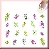 Sticker - Bunte Eidechsen, Salamander -#B2306