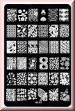 Stamping Schablone *Schleife,Fächer, Bär, Schmetterling,Fullcover Designs - HK03