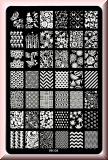 Stamping Schablone *Rose,Pfau,Schmetterling,Blatt,Fullcover Designs - HK04