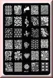 Stamping Schablone *Giraffe,Löwe,Elefant,Eichhörnchen,Fullcover Designs - HK06