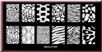 Stamping Schablone  *Fell/Haut -Leopard,Zebra,Schlange,Kuh,Giraffe -#Beauty A-023