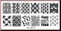 Stamping Schablone  *Schildkröte,Vögel,Lilie,Fullcover Designs -#TU-I014