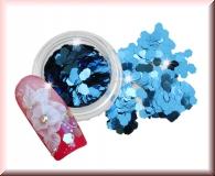 Hexagonplättchen - Metallic Blau