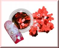 Hexagonplättchen - Metallic Rot