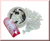 Hexagonplättchen - Metallic Hologram Silber