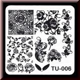 Stamping Schablone *Rosen, Rosenranken, Rosenblätter, Rosenblüten - #TU-006